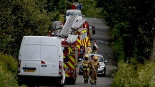 Emergency services on road