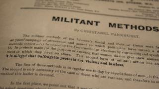 "An essay by Christabel Pankhurst titled ""militant methods"""