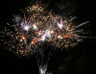 Fireworks at Stewarton Bonnet Guild Torch Parade and Firework Display