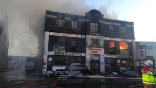Neasden warehouse fire