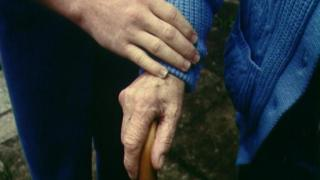 Elderly patients and hands