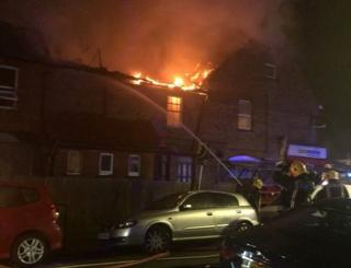 Building on fire in Harrow