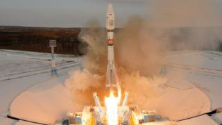 The Soyuz-2 spacecraft with Meteor-M satellite and 18 additional small satellites launches from Russia's new Vostochny cosmodrome, near the town of Tsiolkovsky in Amur region, Russia November 28