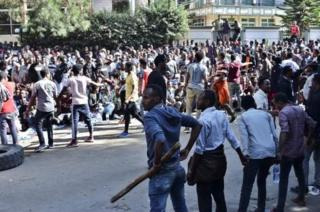 Supporters of Jawar Mohammed staged protests last week