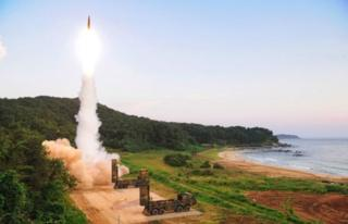 South Korea released images of the tests on Monday