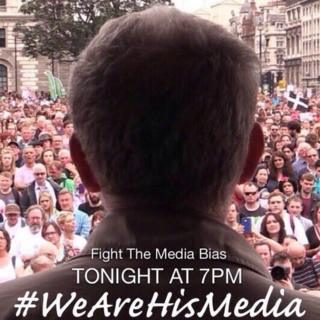 Social media post supporting Jeremy Corbyn