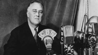 O presidente Franklin Delano Roosevelt em 1934