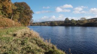 The River Dee near to Ruthrieston, Aberdeen