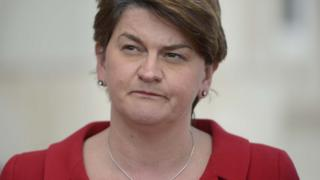 First minister and DUP leader Arlene Foster