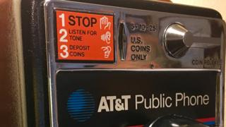 One of the coin operated phones manufactured by the Shreveport factory