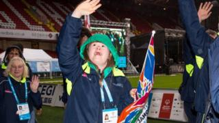 Athlete at 2017 Special Olympics GB