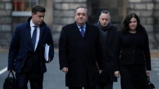 Alex Salmond arriving at court