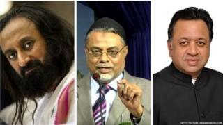(இடமிருந்து வலமாக) ஸ்ரீஸ்ரீ ரவிசங்கர், இப்ராஹிம் கலிஃபுல்லா, ஸ்ரீராம் பஞ்சு