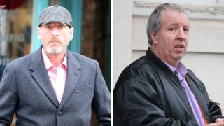 Matthew Barnes (left) and Oliver Wilkinson (right) outside Lewes Crown Court