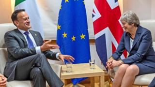 Leo Varadkar and Theresa May, seen here in Brussels in October, spoke on the telephone on Monday