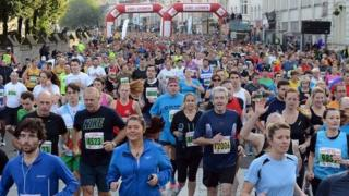Cardiff Half Marathon runners