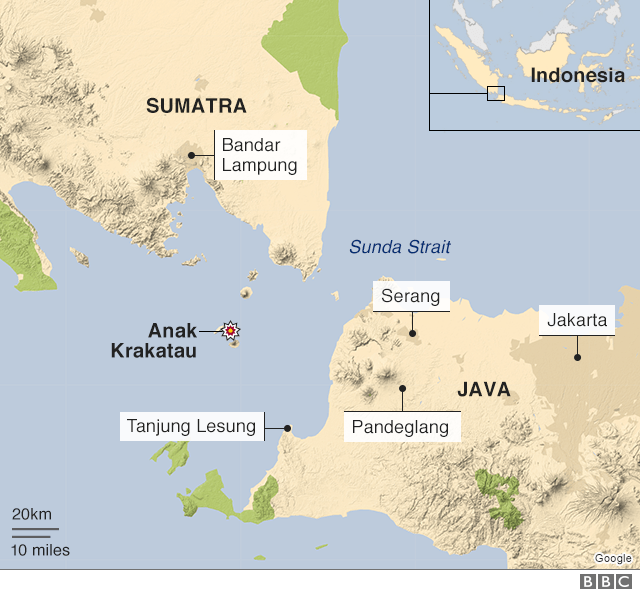 Revised map of Sunda Strait