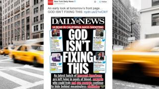 Daily News Cover: God Isn't Fixing This