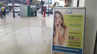 Un letrero en Tijuana