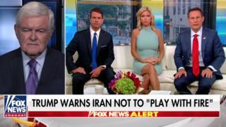 نوت گینگریچ (چپ) به فاکس نیوز گفت که از نظر او تحریمها در حال خرد کردن حکومت ایران هستند