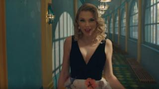 Taylor Swift shown in music video
