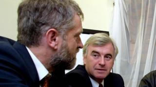 John McDonnell, right, with Jeremy Corbyn
