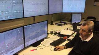 New Metro control room