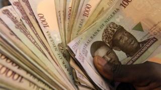 Nigeria N1000 notes wey plenty