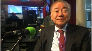 12일 영국 런던 BBC 스튜디오를 찾은 문정인 대통령통일외교안보특보