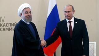 Hasan Rohani y Vladímir Putin.