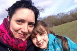 Louise Jago, with daughter Amelie