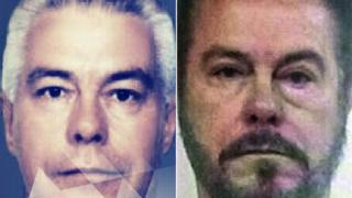 A composite showing two police photos of the captured man