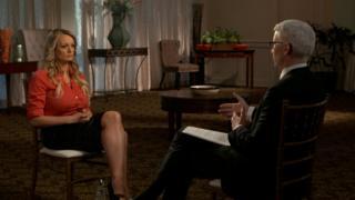 Samantha Clifford, durante su entrevista a la cadena CBS