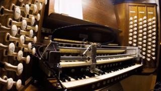 Robot testing Peterborough Cathedral organ