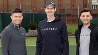 tennis news Tom Beahon (left), with Andy Murray, and Phil Beahon