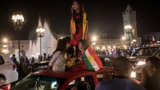 شادمانی حامیان استقلال اقلیم کردستان
