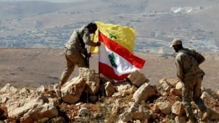 نیروهای حزب الله در مرز لبنان و سوریه