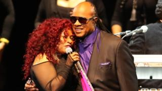 Chaka Khan and Stevie Wonder