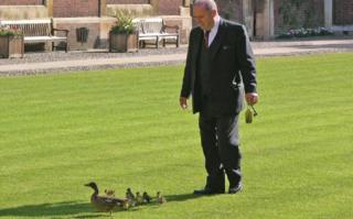 Daom Mulcrone with ducks in 2007