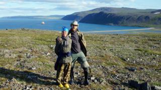 Julia and Daniel on Wrangel