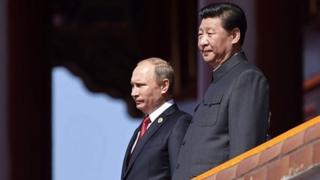 Presidents Putin and Xi