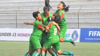 সাফ ফুটবলে জয়ী নারীরা