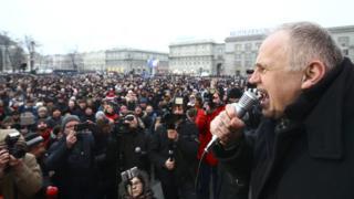 Николай Статкевич на митинге
