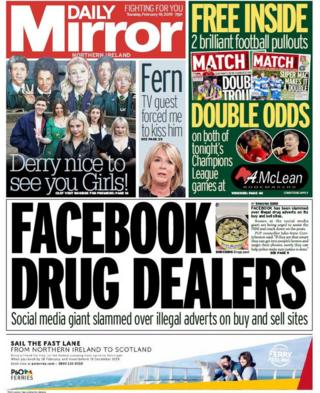 front page Daily Mirror Tuesday 19 February 2019