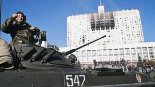 октябрь 1993 года после штурма Белого Дома в Москве