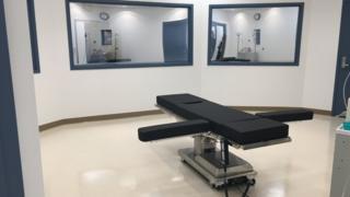 Nova sala de execuções da prisão de Ely, nos EUA