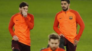 Messi ati Suares ninu igbaradi pelu Barcelona