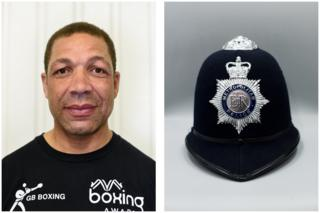 PC Alan Douglas-Smith volunteers as an instructor - his brother, Johnny Nelson, was once a professional boxer