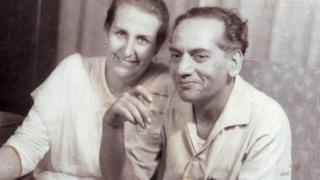 ਫੈਜ਼ ਅਹਿਮਦ ਫੈਜ਼ ਪਤਨੀ ਐਲਿਸ ਦੇ ਨਾਲ
