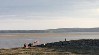 The rescue on Machynys beach
